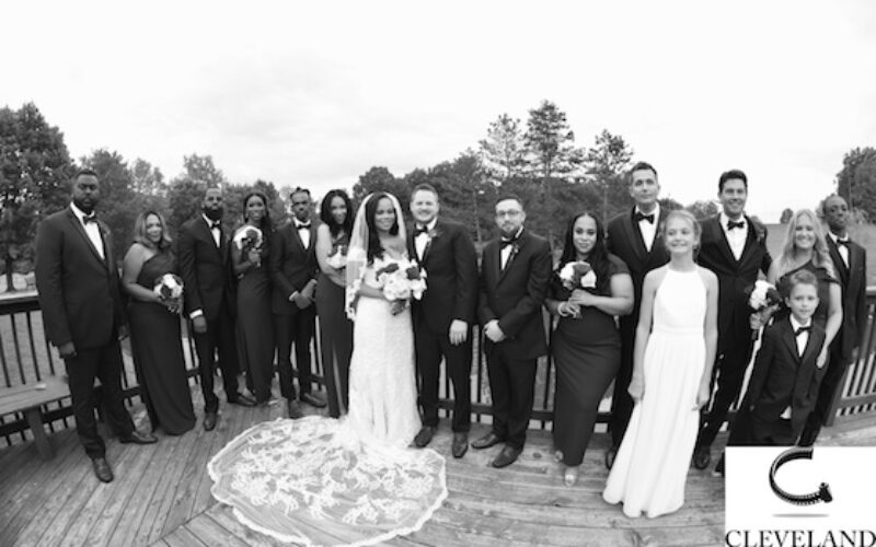 Wood side event center Ohio wedding for Tierra & James